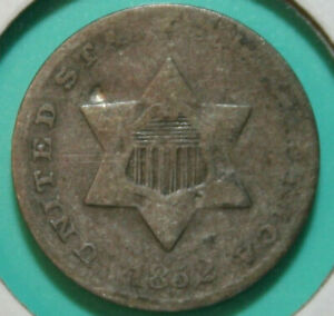 1852 DOUBLED DIE FS 801   DDR 001   THREE CENT SILVER TRIME   3CS   DAMAGED BENT