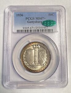 Click now to see the BUY IT NOW Price! CLASSIC COMMEMORATIVE BATTLE OF GETTYSBURG ANNIVERSARY 1936 P PCGS MS 67   CAC G