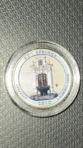 COLORIZED 2010 D / HOT SPRINGS / AMERICA THE BEAUTIFUL QUARTER