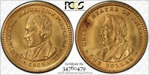 1905 GOLD 1$  LEWIS AND CLARK PCGS MS64     GOLD COMMEMORATIVE