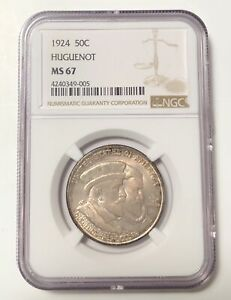 Click now to see the BUY IT NOW Price! CLASSIC COMMEMORATIVE HUGUENOT   WALLOON TERCENTENARY 1924 P NGC MS 67   HUGUENO