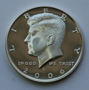 2006 S KENNEDY HALF DOLLAR 90  SILVER GEM DCAM PROOF CONDITION US COIN