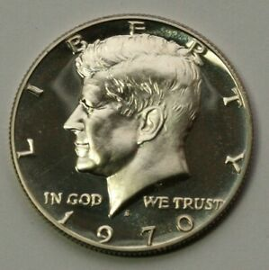 1970 S KENNEDY HALF DOLLAR GEM DCAM PROOF CONDITION 40  SILVER US COIN
