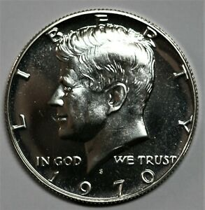 1970 S KENNEDY HALF DOLLAR GEM LIGHT CAMEO PROOF CONDITION 40  SILVER US COIN