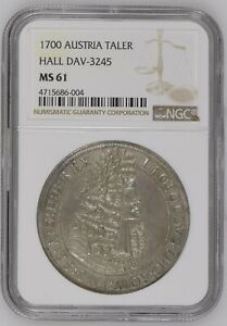 Click now to see the BUY IT NOW Price! 1700 AUSTRIA HALL THALER LEOPOLD HOGMOUTH NGC MS61   GEM