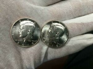 2018 P&D KENNEDY HALF DOLLAR 2 COIN SET   UNCIRCULATED  BRIGHT FROM US MINT