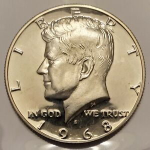 1968 S KENNEDY HALF DOLLAR GEM PROOF CONDITION 40  SILVER US COIN C 1