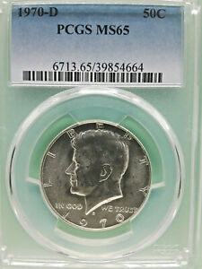 Click now to see the BUY IT NOW Price! 1970 D UNITED STATES  40  SILVER KENNEDY HALF DOLLAR    PCGS MS65      4664