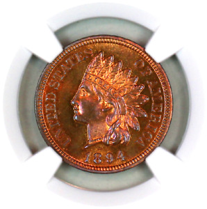 Click now to see the BUY IT NOW Price!   1894   PF65 RB NGC   INDIAN HEAD PENNY   PREMIUM QUALITY   PROOF EXAMPLE
