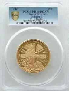 Click now to see the BUY IT NOW Price! 2020 ROYAL MINT BRITANNIA 500 POUND GOLD PROOF 5OZ COIN PCGS PR70 DCAM FS