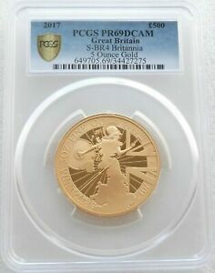 Click now to see the BUY IT NOW Price! 2017 ROYAL MINT BRITANNIA 500 POUND GOLD PROOF 5OZ COIN PCGS PR69 DCAM