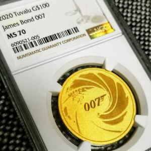 Click now to see the BUY IT NOW Price! 2020 TUVALU GOLD COIN $100 007 JAMES BOND 1TROY OUNCE NGC MS70 20PCS IN WORLD