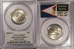 Click now to see the BUY IT NOW Price! 2009 P AMERICAN SAMOA QUARTER 25C PCGS SP69 SATIN FINISH FLAG LABEL
