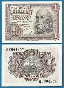 SPAIN 1 PESETA P 144 A 1953 UNC LOW SHIPPING  COMBINE FREE   P 144A