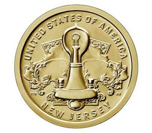 2019 P AMERICAN INNOVATION NEW JERSEY $1 US MINT BRIGHT UNCIRCULATED