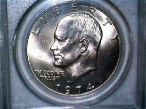 1974 D MS65 EISENHOWER CLAD PCGS THERE ARE SOME FINE SCRATCHES ON THE CASE