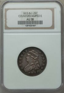 1815 CAPPED BUST QUARTER COUNTER STAMPED