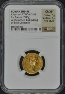 Click now to see the BUY IT NOW Price! AUGUSTUS 27 BC AD 14 ROMAN AUREUS NGC XF45 FINESTYLE