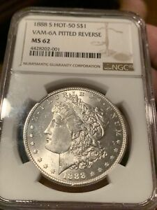 Click now to see the BUY IT NOW Price! 1888 S MORGAN DOLLAR NGC MS62 SUPER  VAM 6A  ALSO ROTATED DIE   CHECK PICS