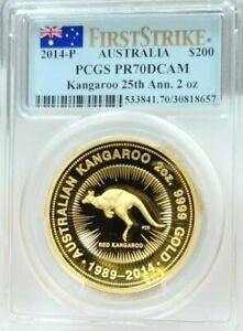 Click now to see the BUY IT NOW Price! 2014 AUSTRALIA GOLD 200 DOLLARS KANGAROO PCGS PR 70 DCAM ONLY 250 MINTED 2 OZS