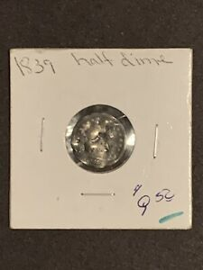1839 SEATED LIBERTY HALF DIME COIN