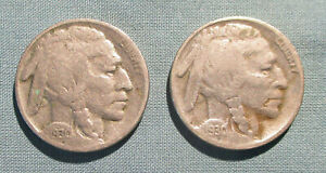 1930 P AND 1930 S BUFFALO NICKELS   U.S. 5 CENTS COIN NICKEL
