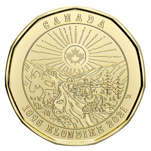 1 NO COLOR COIN CANADA $1 LOONIE KLONDIKE GOLD RUSH 2021 125TH