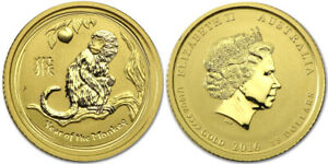 Click now to see the BUY IT NOW Price! 2016 AUSTRALIA 15 DOLLARS GOLD 1/10 OZ LUNAR YEAR OF THE MONKEY IN CAPSULE