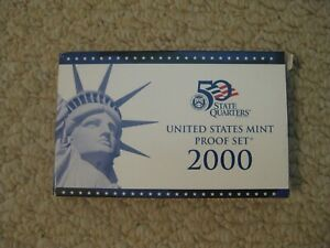 2000 UNITED STATES MINT PROOF SET 10 COIN SET MIB WITH COA