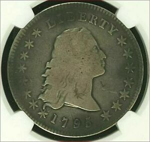 1795 FLOWING HAIR DOLLAR 2 LEAVES NGC VG10 LOVELY EVEN TONE.  DIE COMBO