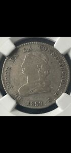 Click now to see the BUY IT NOW Price! 1857 GJ ECUADOR 2 REALES NGC VF 25 UNIQUE
