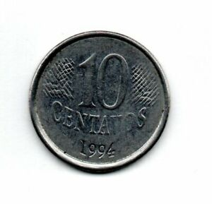 1994 BRAZIL 10 CENTAVOS CIRCULATED COIN FC194 FREE S&H TOO