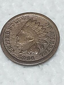 1864 INDIAN HEAD PENNY 90  ROTATED DIE ERROR COIN