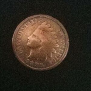 1889 INDIAN HEAD CENT OVER 130 YEAR OLD US CENT /PLANCHET ERROR M 00