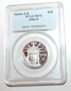 Click now to see the BUY IT NOW Price! 1998  W PCGS PR70 STATUE OF LIBERTY $50 PLATINUM