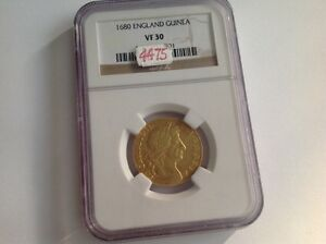 Click now to see the BUY IT NOW Price! 1680 ENGLAND GUINEA IN NGC HOLDER