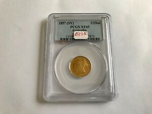 Click now to see the BUY IT NOW Price! 1857  SY  1/2 SOVEREIGN AUSTRALIA PCGS XF 45