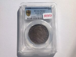 Click now to see the BUY IT NOW Price! 1698 GREAT BRITAIN 1/2 CROWN MS 62 PCGS