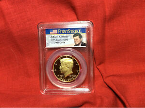 Click now to see the BUY IT NOW Price! / 2014 KENNEDY 50TH ANNIVERSARY PCGS SETS GOLD / SILVER