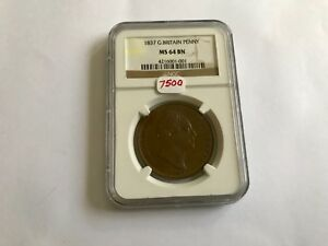 Click now to see the BUY IT NOW Price! 1837 GREAT BRITAIN PENNY NGC MS 64 BROWN
