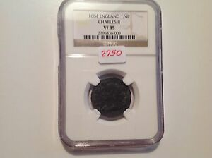 Click now to see the BUY IT NOW Price! 1684 ENGLAND 1/4 P CHARLES II NGC VF 35