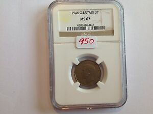 Click now to see the BUY IT NOW Price! 1942 GREAT BRITAIN 3 P NGC MS 62