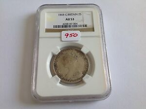 Click now to see the BUY IT NOW Price! 1868 GREAT BRITAIN 2S NGC AU 53