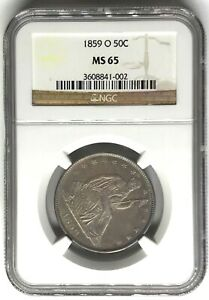 Click now to see the BUY IT NOW Price! 1859 O LIBERTY SEATED HALF DOLLAR NGC MS65   50C  3608841 002