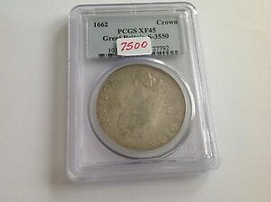 Click now to see the BUY IT NOW Price! 1662 GREAT BRITAIN CROWN PCGS XF 45