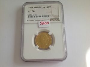 Click now to see the BUY IT NOW Price! 1861 AUSTRALIA GOLD 1SOV NGC AU 58