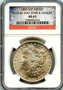 Click now to see the BUY IT NOW Price! C7294  1896 VAM 4A DDO STARS & GOUGES TOP 100 MORGAN $1  NGC MS65   NGC POP 1/0