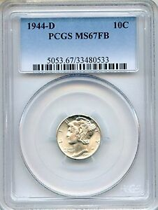 Click now to see the BUY IT NOW Price! 1944 D MERCURY DIME PCGS MS67FB   FULL BANDS 10C  33480533