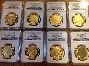 Click now to see the BUY IT NOW Price! 2006 2016 W PROOF GOLD BUFFALO COMPLETE RUN NGC PF70 E.R./F.S. PLUS BOXES/CERTS.