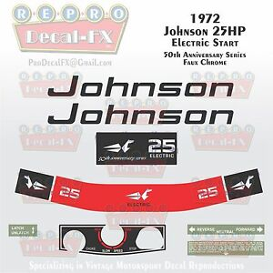 1978 Johnson 35HP Electric Start Outboard Reproduction 18 Pc Marine Vinyl Decals